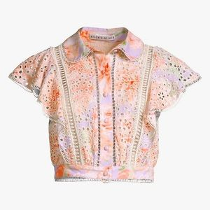 BNWT Alice + Olive Embroidered Eyelet Cavan Blouse